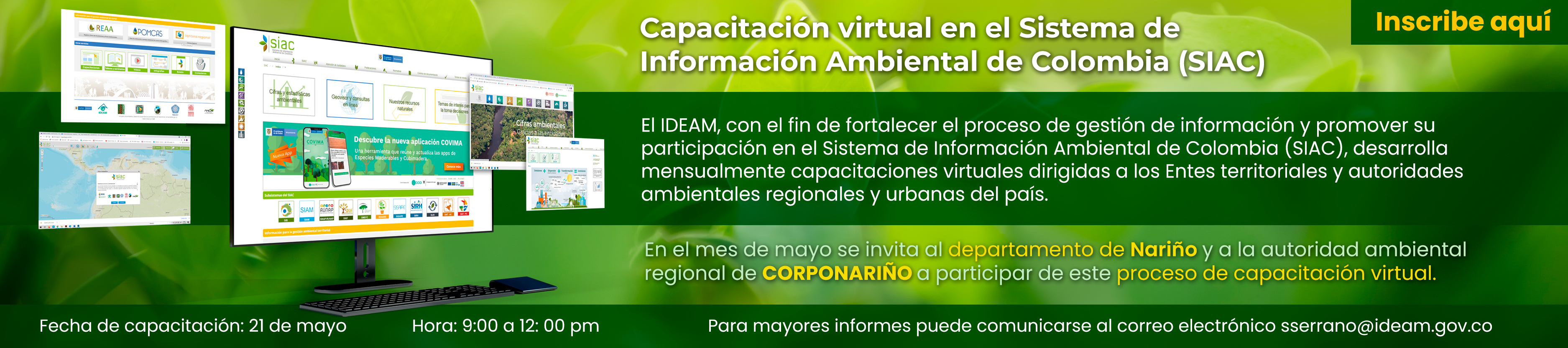 Capacitación virtual SIAC